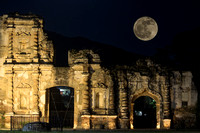 Moon over the Ruins of Candelaria in Antigua Guatemala