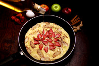 Sunday Morning Breakfast: Apple and Strawberries Egg Pancake