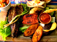 Typical Guatemalan Grilled Meats Plate