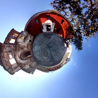 The tiny planet of the Compañía de Jesús building in Antigua Guatemala.
