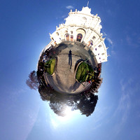Tiny Planet of Parque Central in Antigua Guatemala