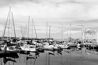 Street Photography —Boats and cranes in Alameda, Oakland
