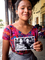 Antigua Makes Me Happy - Portraits of Mayan Girl with portrait
