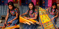 Antigua Artisan Triptych: The Mayan Weaver