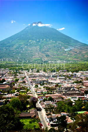 Panoramic of Antigua Guatemala