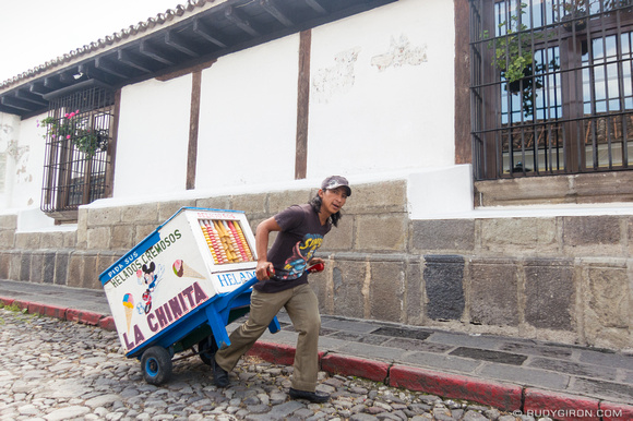 Traditional ice cream carts of Antigua Guatemala