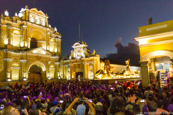Lent Procession from Jocotenango near Parroquia de San Pedro in Antigua Guatemala