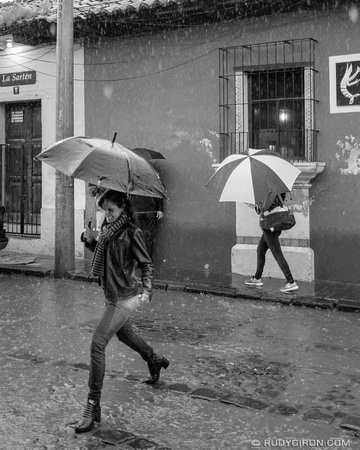 Street Photography — It's umbrella time in Antigua Guatemala