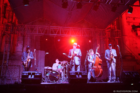 The Shuffle Demons at Guatemala's Jazz Festival in Antigua Guatemala