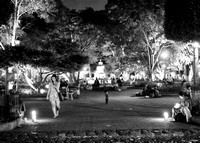Antigua's Central Park at Night