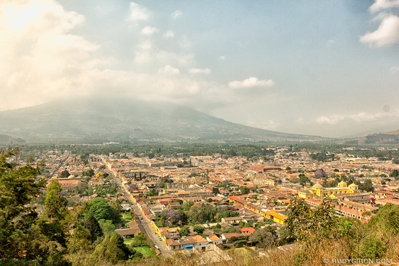 Panoramic Vista of Antigua Guatemala from Cerro de la Candelaria