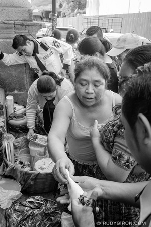 Street Photography — It's lunch time on the streets of Antigua Guatemala