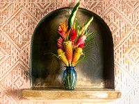 Exotic Flowers and Niches in Antigua Guatemala